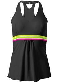 Ghost with background  view Neon Banded Tankini Top