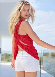 Cropped back view Crisscross Detail Top