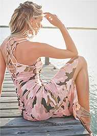 Alternate View Camo Maxi Dress