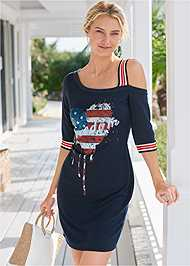 Cropped front view Graphic Lounge Dress