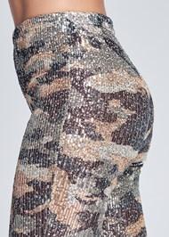 Detail side view Sequin Camo Leggings