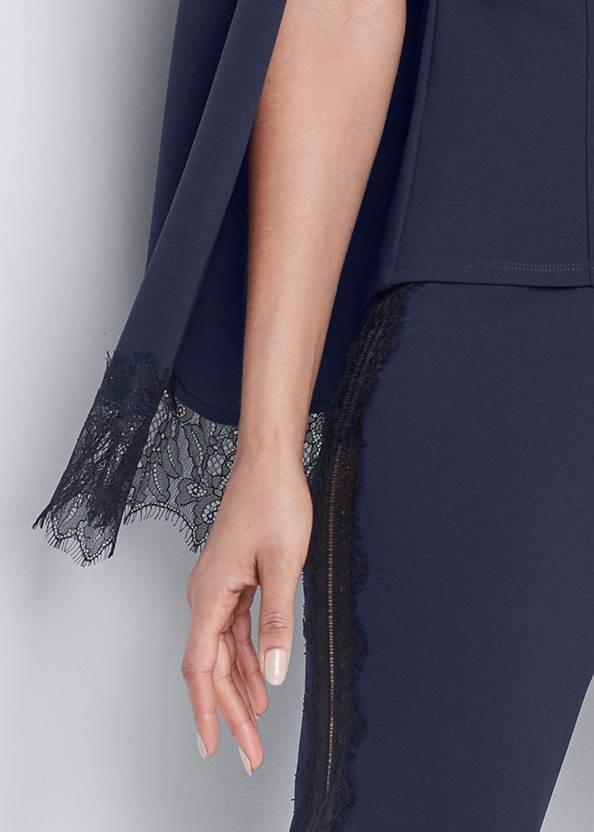 Detail front view Lace Detail Cape Set