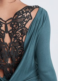 Alternate View Open Back Lace Top