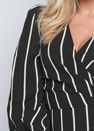 Alternate View Striped Wrap Top