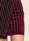 Detail front view Embellished Velvet Dress