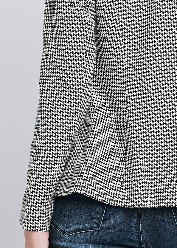 Detail back view Houndstooth Double Breasted Blazer
