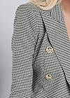 Detail front view Houndstooth Double Breasted Blazer