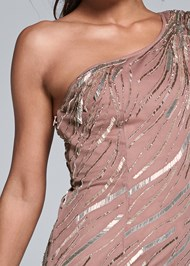 Detail front view Sequin Detail Gown