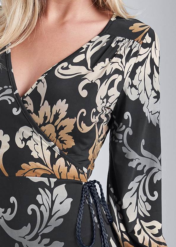 Detail front view Tassel Detail Long Dress