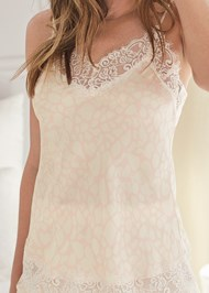 Detail front view Silky Lace Sleep Set