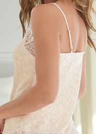 Detail back view Silky Lace Sleep Set