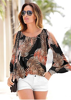 palm tiered sleeve top