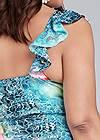 Back View Floral Lace Dress