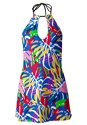 Ghost with background  view High Neck Swim Dress