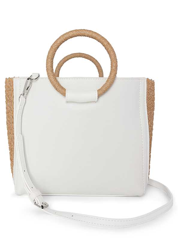 Raffia Detail Bag,Frayed Cut Off Jean Shorts
