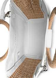 Flatshot open view Raffia Detail Bag