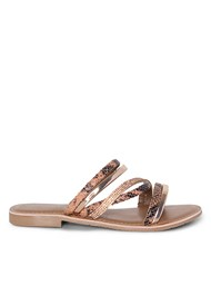 Shoe series side view Animal Print Strappy Slides