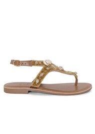 Shoe series side view Shell Detail Sandals