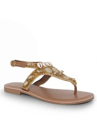 Shoe series 40° view Shell Detail Sandals