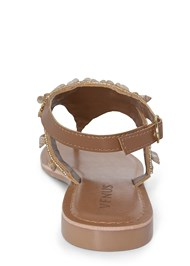 Shoe series back view Shell Detail Sandals