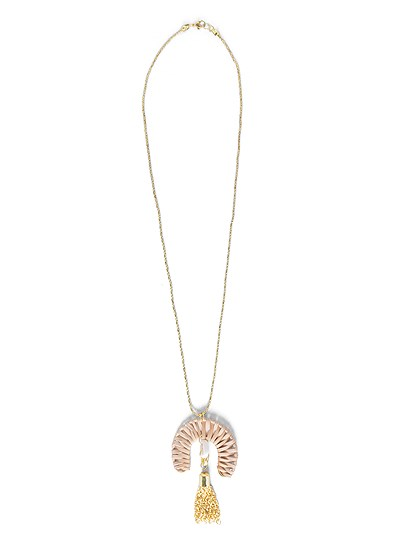 shell detail long necklace
