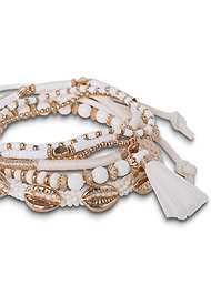Alternate View Shell Detail Bracelet Set