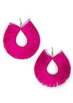 oversized fringe earrings