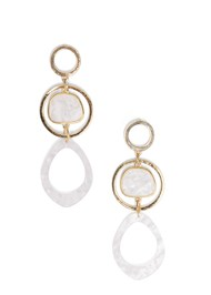 Flatshot  view Long Circle Earrings