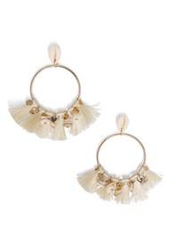 Flatshot  view Shell Earrings