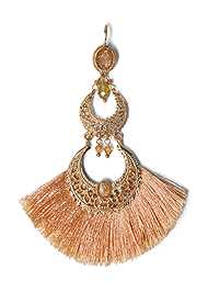 Detail  view Fringe Drop Earrings