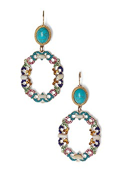 beaded statement earrings
