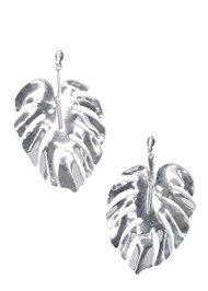 Flatshot  view Leaf Earrings