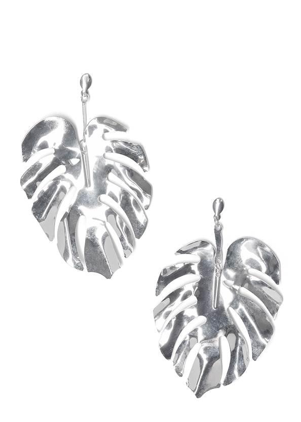 Leaf Earrings,Mesh Ruched Midi Dress,Asymmetrical Strappy Heels,Ring Handle Circle Clutch