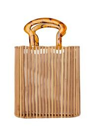 Flatshot front view Wooden Handbag