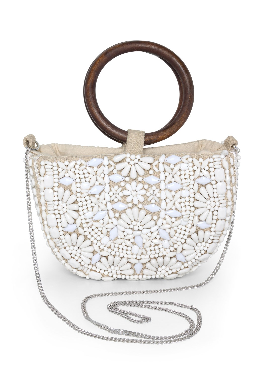 Beaded Oval Bag