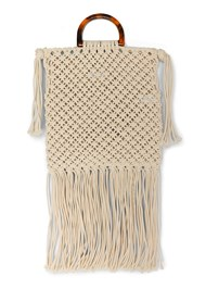 Back View Macrame Handbag