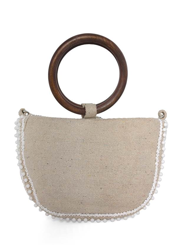 Back View Beaded Oval Bag