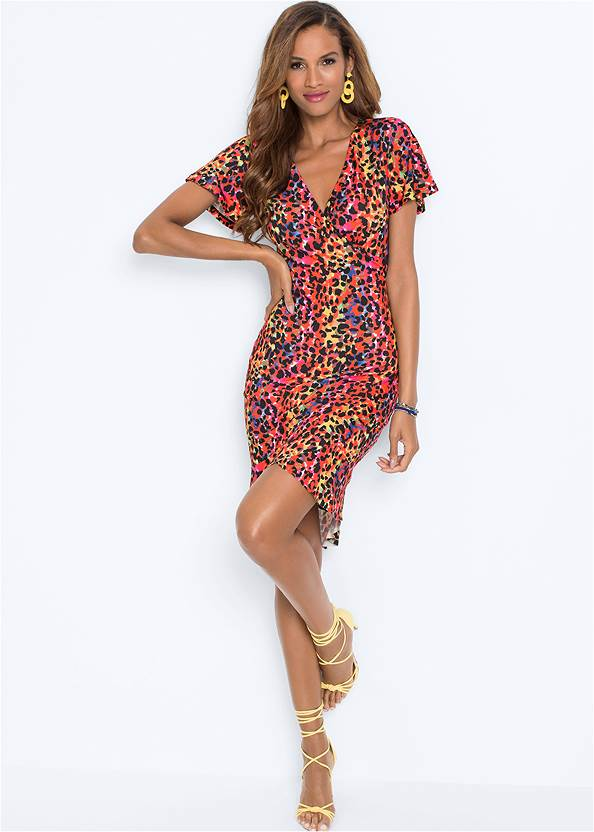 Full front view Leopard Printed Dress