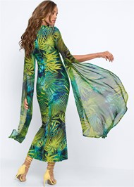 Full back view Exaggerated Sleeve Dress