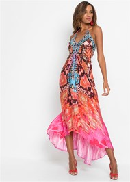 Full front view High Low Printed Dress