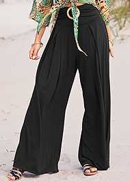 Detail front view Wide Leg Cover-Up Pants