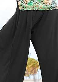Detail back view Wide Leg Cover-Up Pants