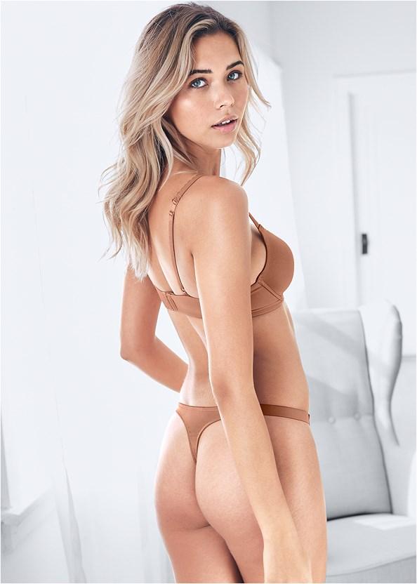 Lace Thong 3Pk,Naked T-Shirt Bra