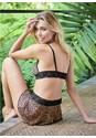 Back View Bralette Skirt Thong Set