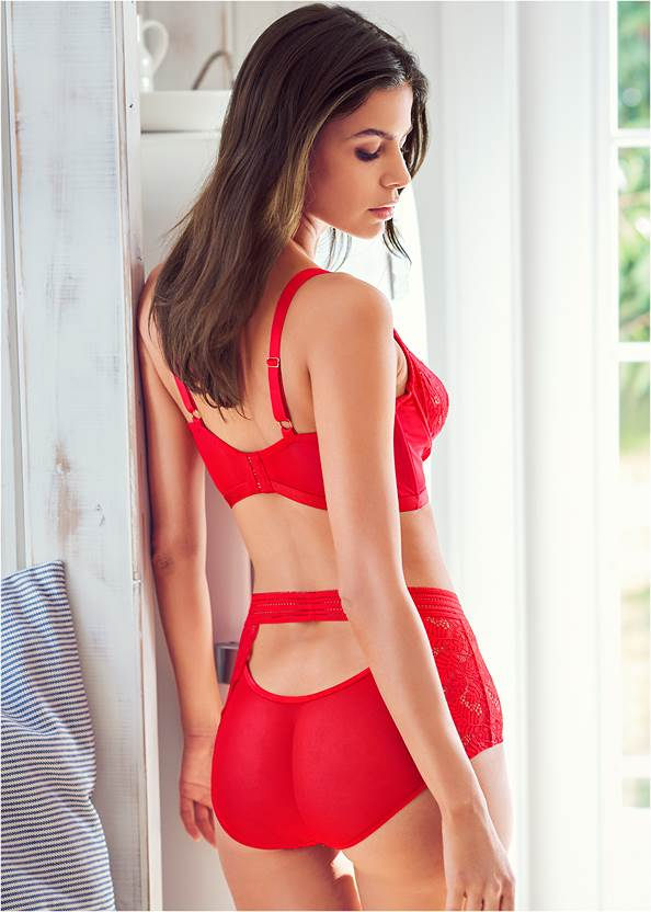Cropped back view Unlined Bra Panty Set
