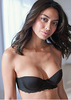 strapless bra with geo lace