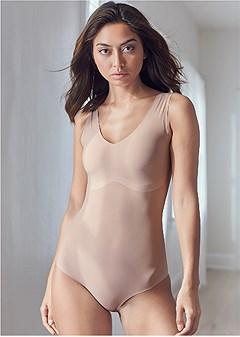 shaping v-neck bodysuit