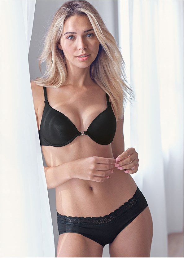 Lace Detail Brief 3Pk,Push Up Bra Buy 2 For $40