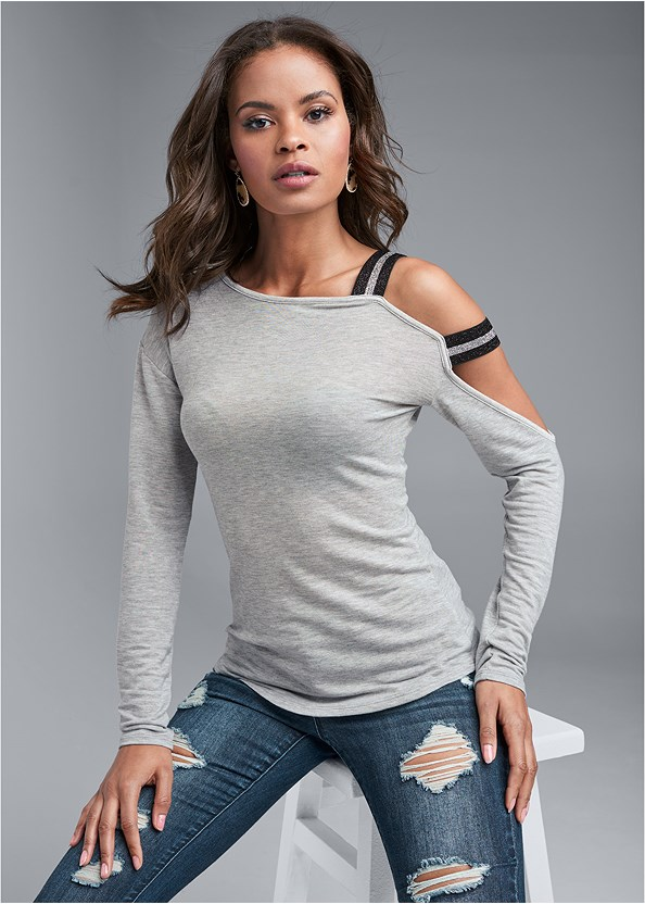 Strap Detail Lounge Top,Ripped Bum Lifter Jeans,Kissable Convertible Bra,Stretch Back Boots