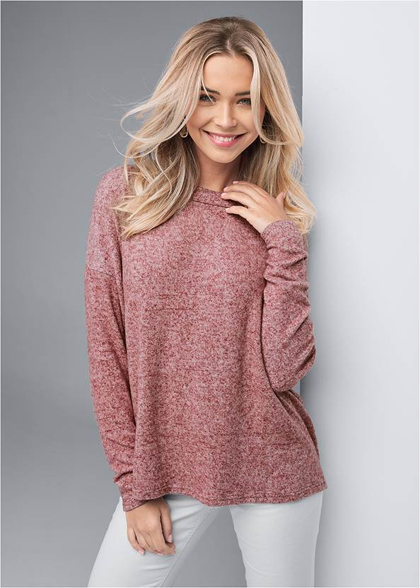 Cropped front view Cozy Back Detail Lounge Top